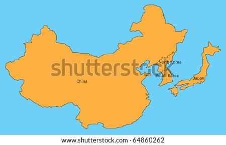 Map Of China, Korea, And Japan