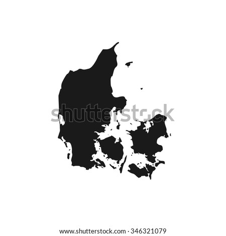 Map of Denmark - stock photo