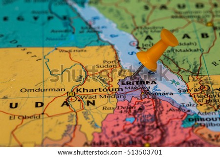 Eritrea Map Stock Images RoyaltyFree Images Vectors Shutterstock - Eritrea map
