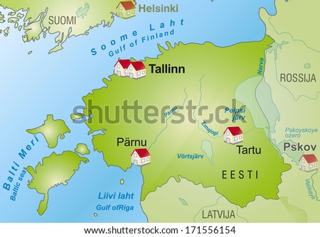 Map Estonia Infographic Green Stock Illustration 171556154