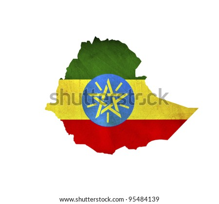 Map of Ethiopia isolated - stock photo