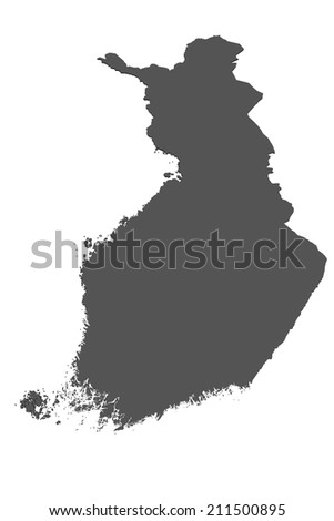 Map of Finland - isolated - stock photo