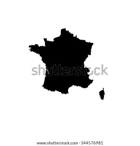 Map of France - stock photo
