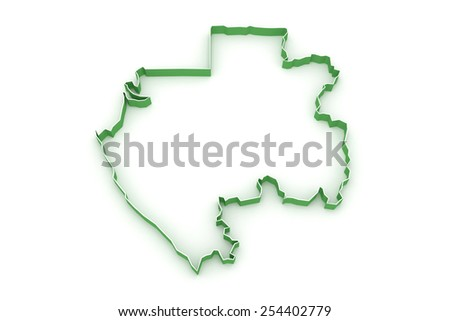 Map of Gabon. 3d - stock photo