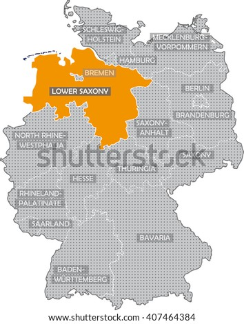 Map German Federal States In English Stock Illustration 407464384 ...