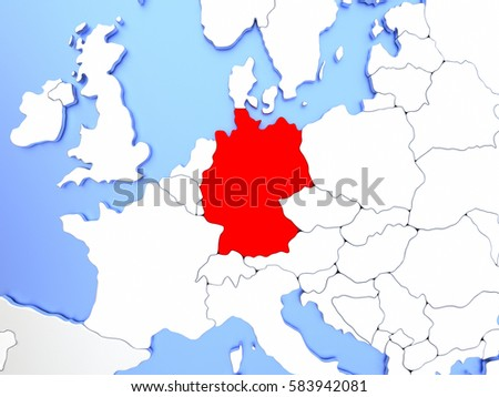 Map germany highlighted red on simple stock illustration 583942081 map of germany highlighted in red on simple shiny metallic map with clear country borders gumiabroncs Choice Image