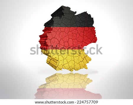 Map of Germany with German Flag on a white background - stock photo