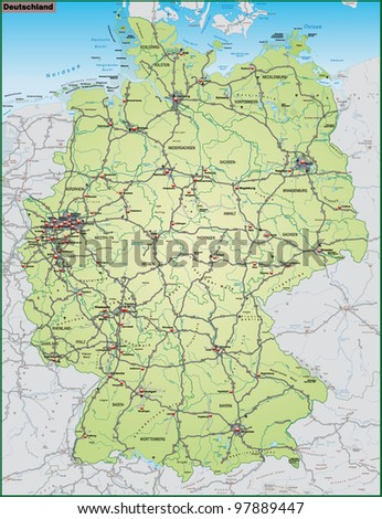 Map Of Germany And Surrounding Countries.Germany And Surrounding Countries Map