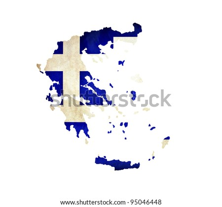 Map of Greece isolated - stock photo