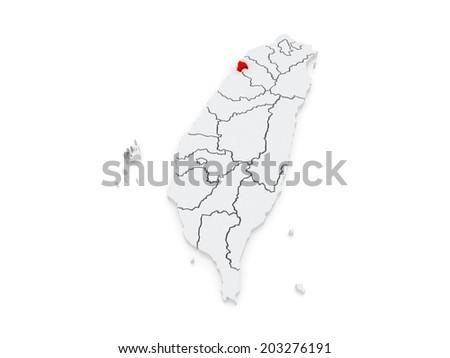 Map Hsinchu City Taiwan 3d Stock Illustration 203276191 Shutterstock