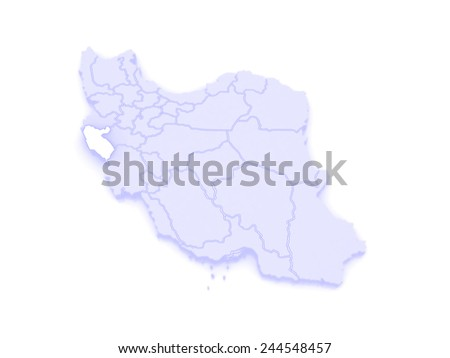Map Ilam Iran D Stock Illustration Shutterstock - Ilam map