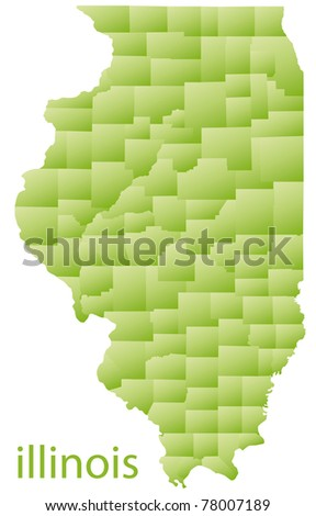 map of illinois state, usa