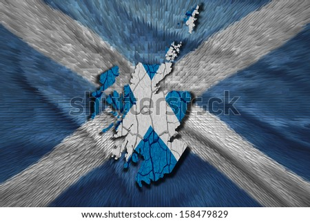 Map of  in National flag colors - stock photo