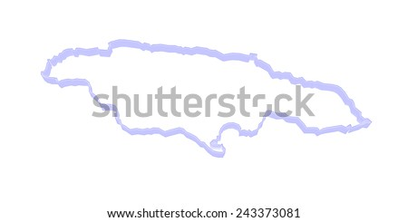 Map of Jamaica. 3d - stock photo