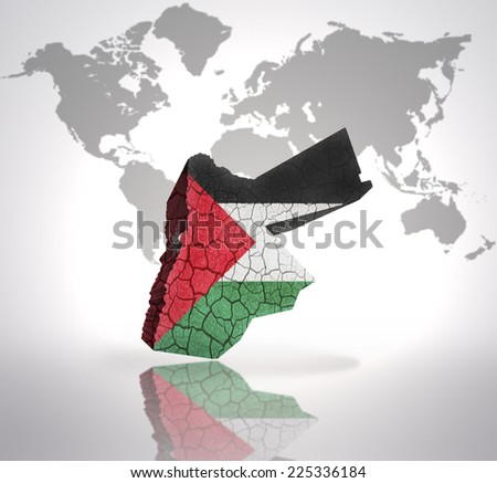 Map jordan jordan flag on world stock illustration 225336184 map of jordan with jordan flag on a world map background gumiabroncs Image collections