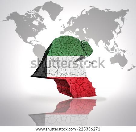 Map Kuwait Kuwait Flag On World Stock Illustration 225336271 ...