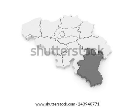Map of Luxembourg. Belgium. 3d - stock photo