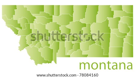 map of montana state, usa