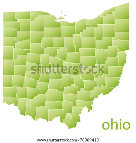 map of ohio state, usa