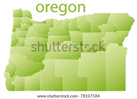 map of oregon state, usa