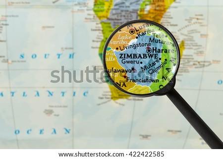 Zimbabwe Map Stock Images RoyaltyFree Images Vectors - Republic of zimbabwe map