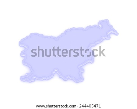 Map of Slovenia. 3d - stock photo