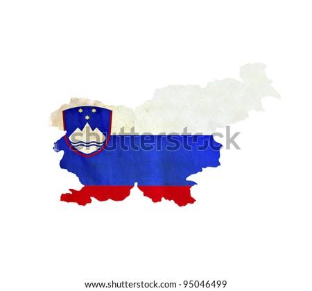 Map of Slovenia isolated - stock photo
