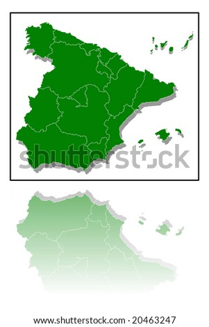 map of spain illustration
