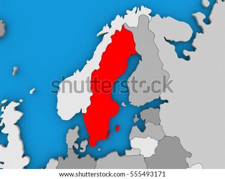 Sweden Map Stock Images RoyaltyFree Images Vectors Shutterstock - Sweden map 3d
