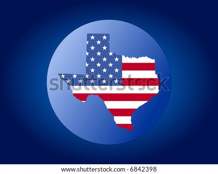 map of Texas and American flag globe illustration JPG