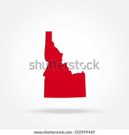 map of the U.S. state of Idaho  - stock photo