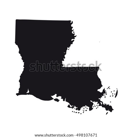 Map Of The U S State Of Louisiana On A White Background