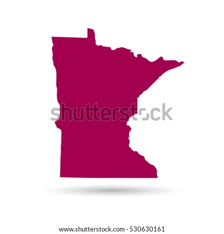 Minnesota Map Stock Images RoyaltyFree Images Vectors - Us map all white red background