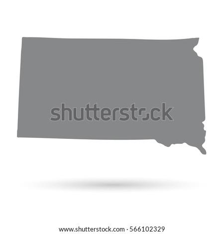 South Dakota State Border Map Stock Vector 316197005 Shutterstock