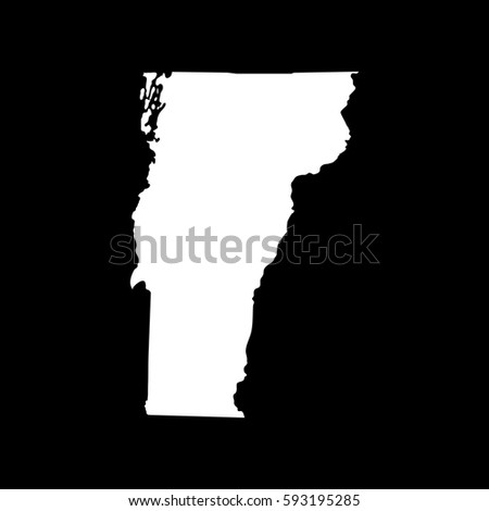 Map Us State Vermont Stock Illustration Shutterstock - Us map vermont