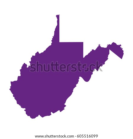 Map Us State West Virginia On Stock Vector 529261525 Shutterstock