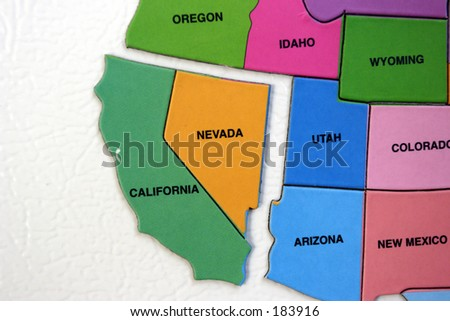 Map of the USA, california