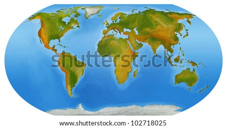 map of the world 2 - stock photo
