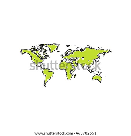 Map world color symbol icon on stock vector 589434671 shutterstock map of the world flat icon on white background simple illustration gumiabroncs Images
