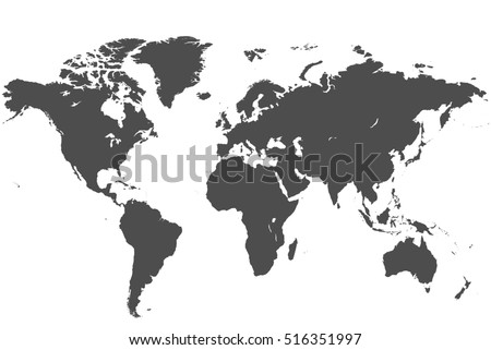 Map world world map high resolution ilustracin de stock516351997 map of the world world map high resolution in grey gumiabroncs Choice Image