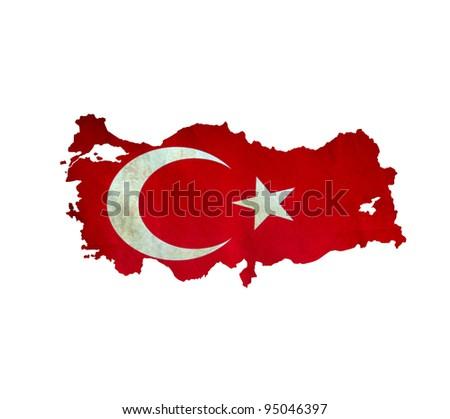 Map of Turkey isolated - stock photo
