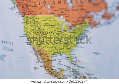 Map United States North America Selective Stock Photo - Is united states north america