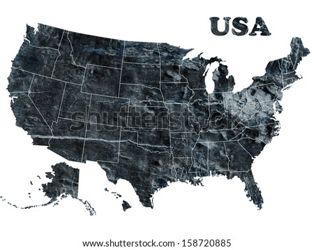 Map of USA - stock photo