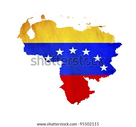 Map of Venezuela isolated - stock photo