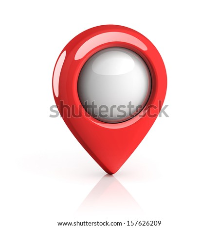 map pointer - stock photo