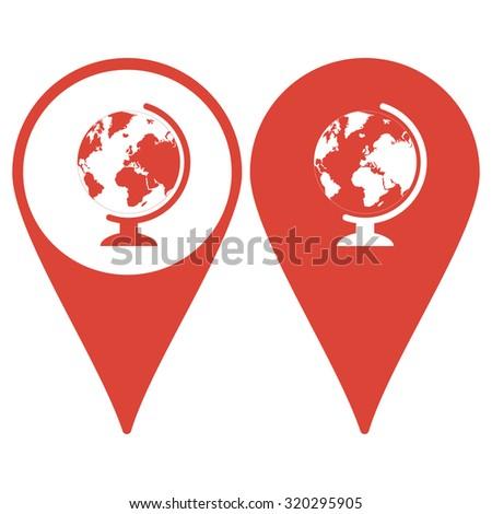 Map pointer. geography school earth globe web icon. illustration - stock photo