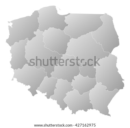 Map - Poland - stock photo