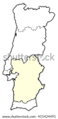 Map Portugal Norte Region Stock Illustration Shutterstock - Portugal norte map