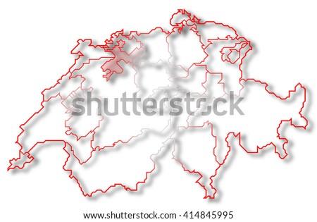 Solothurn Map Stock Images RoyaltyFree Images Vectors Shutterstock