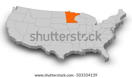 Minnesota Map Stock Images RoyaltyFree Images Vectors - Us map minnesota